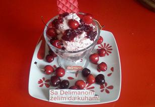 Cherry ice cream Delimano